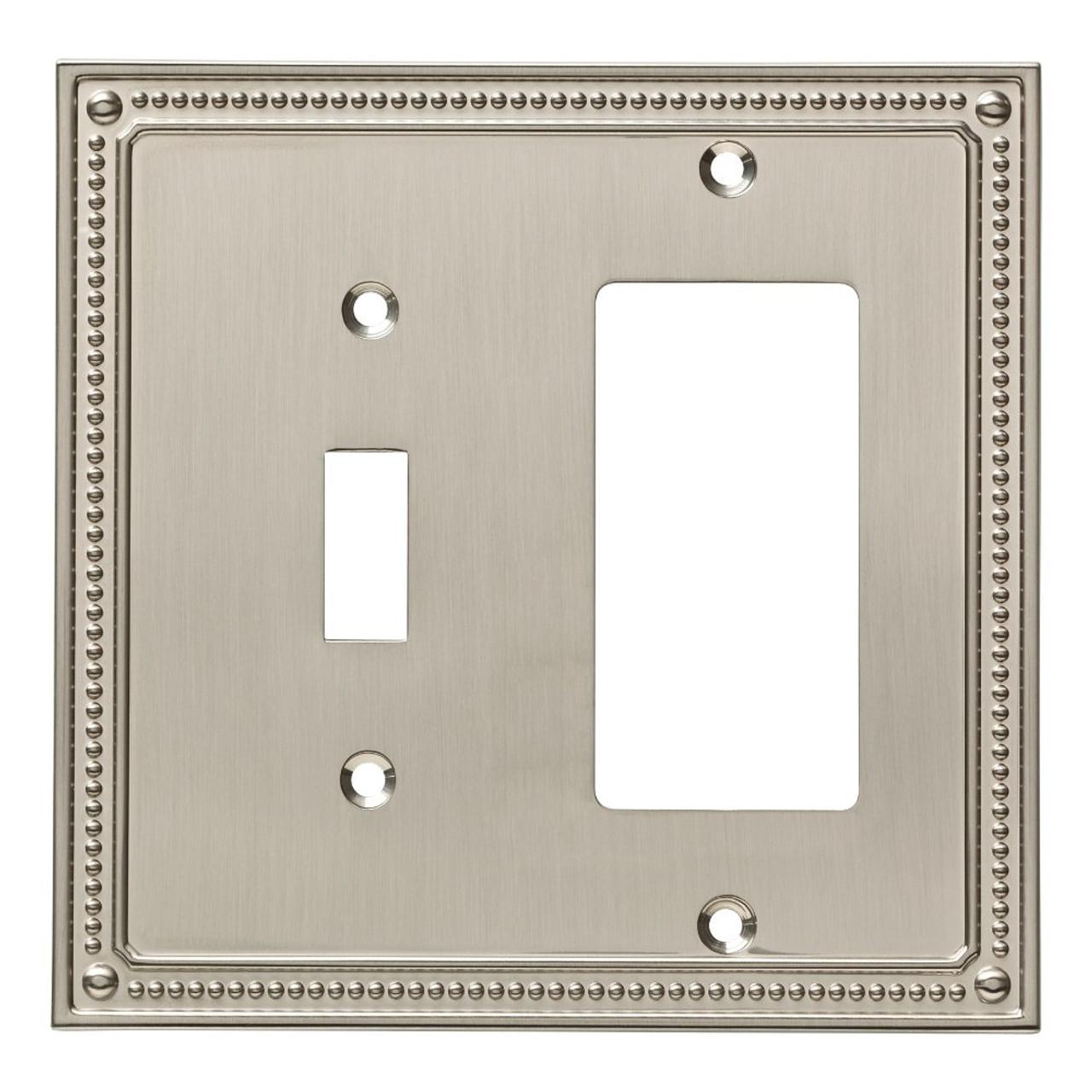 Franklin Brass W35063-SN Classic Beaded Switch / GFCI Decora Cover Plate