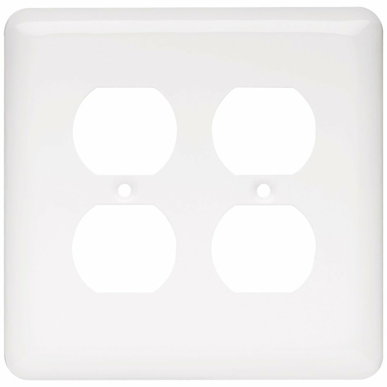 W10250-W Stamped White Double Duplex Outlet Switch Cover