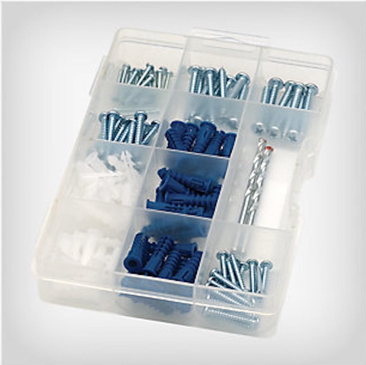 Project Basics 149132 138 Piece Utilitty Multi Pack Anchor / Screw / Drill Bit