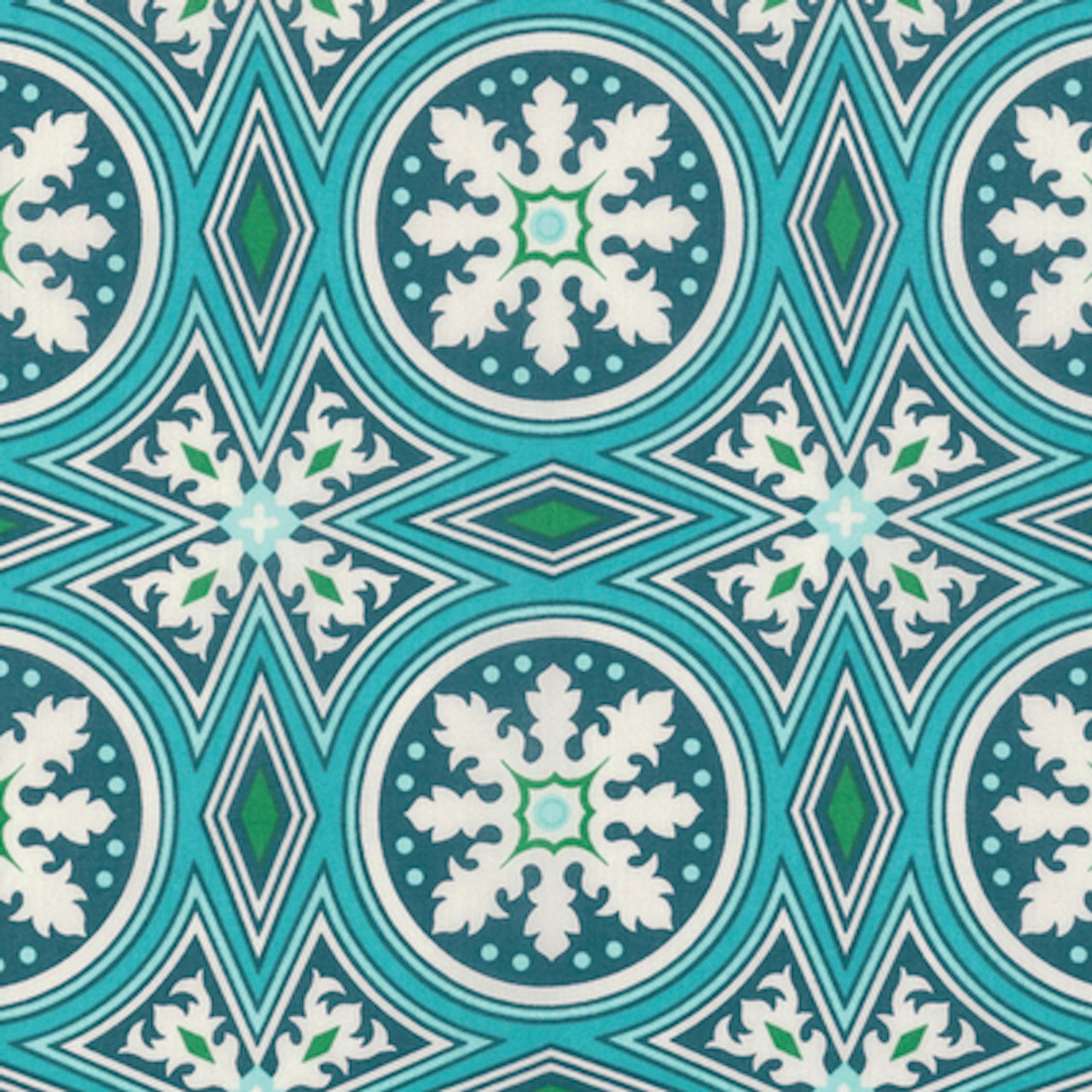 Joel Dewberry VOJD013 Modernist Tolson Peacock Cotton VOILE Fabric 8 Yard Bolt