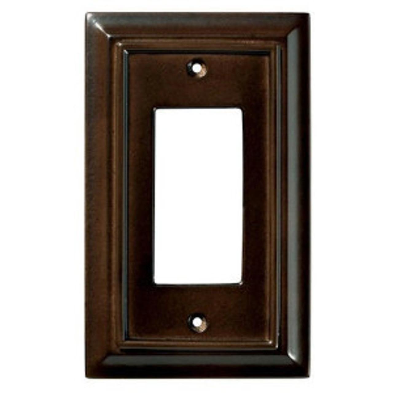Brainerd W31559-ESO Espresso Wood Architect Single GFCI Cover Plate