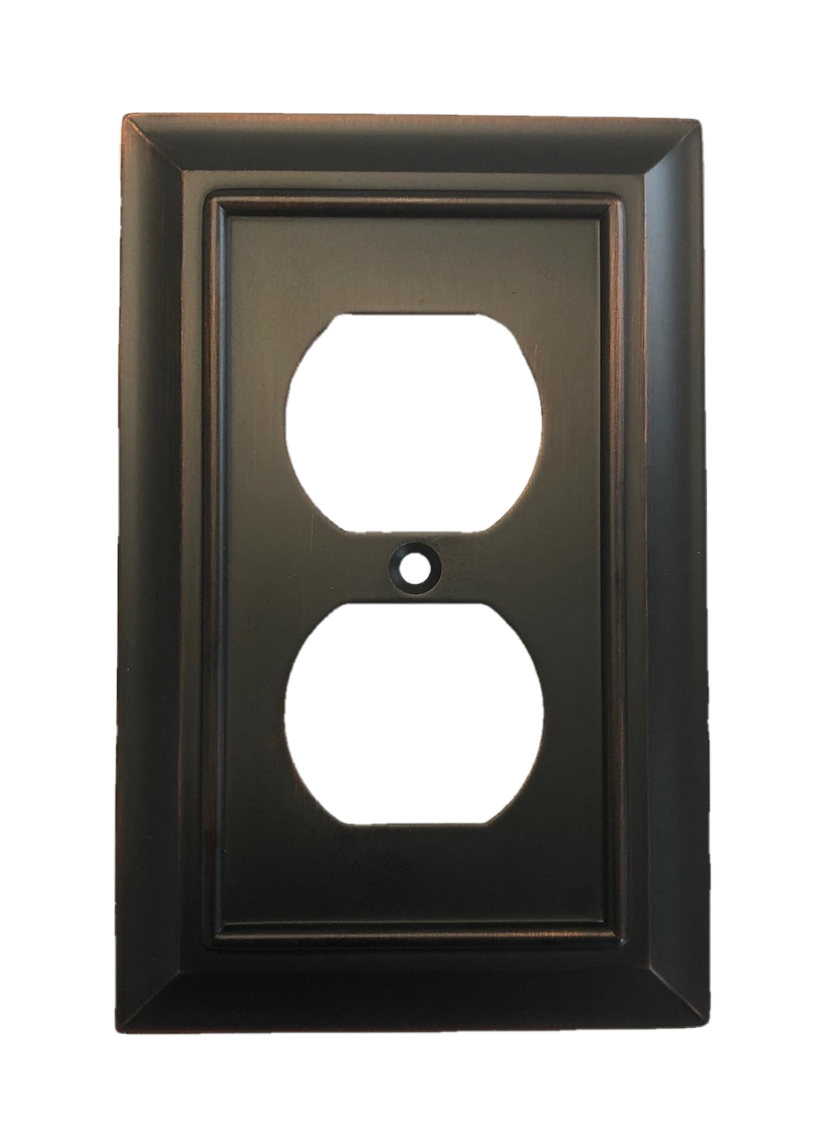 Brainerd W10086-BZM Architectural Single Duplex Outlet Cover Plate Matte Bronze