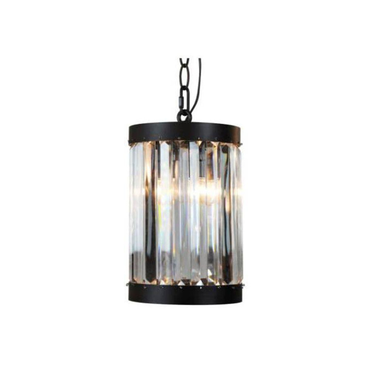 1-Light Oil-Rubbed Bronze Indoor Mini Pendant with Glass Shade