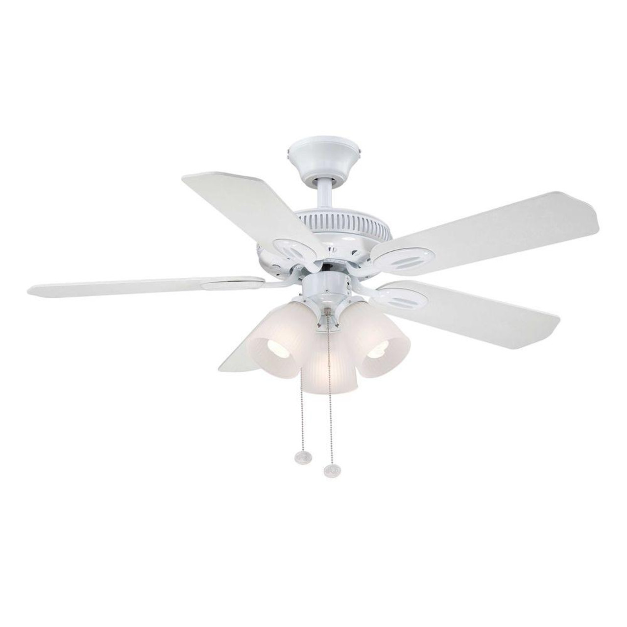 Hampton Bay Glendale 42 in. LED Indoor White Ceiling Fan with Light Kit