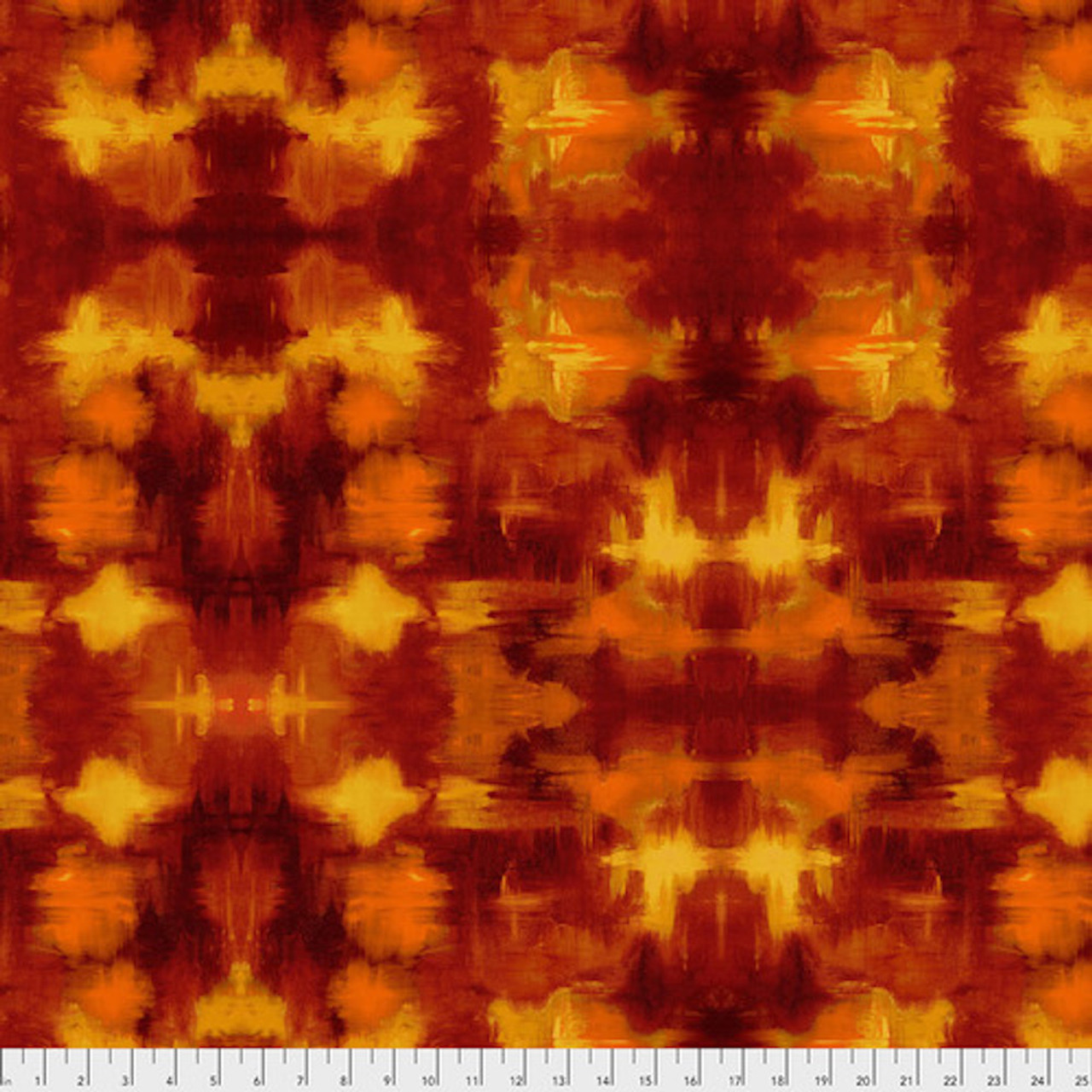 Sue Penn PWSP005 Garden Bright Terrace Sunset Cotton Quilting Fabric By Yd