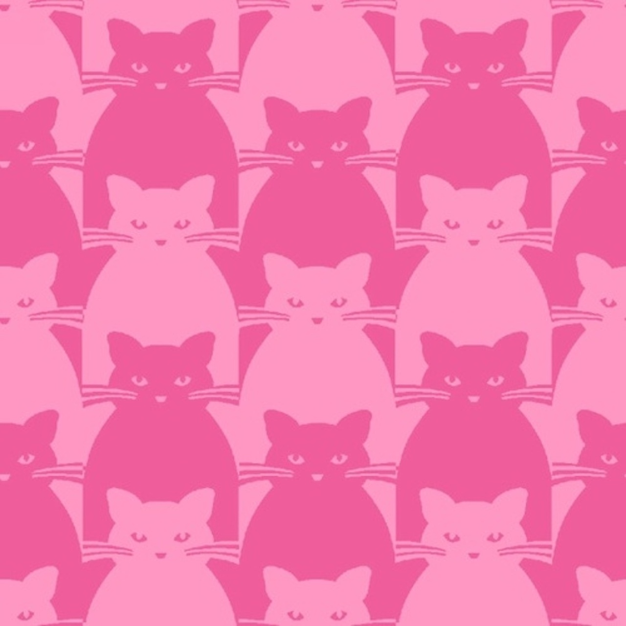 Blank Quilting 8585-22 Kitty Kitty Tonal Cat Pink Cotton Fabric By Yard