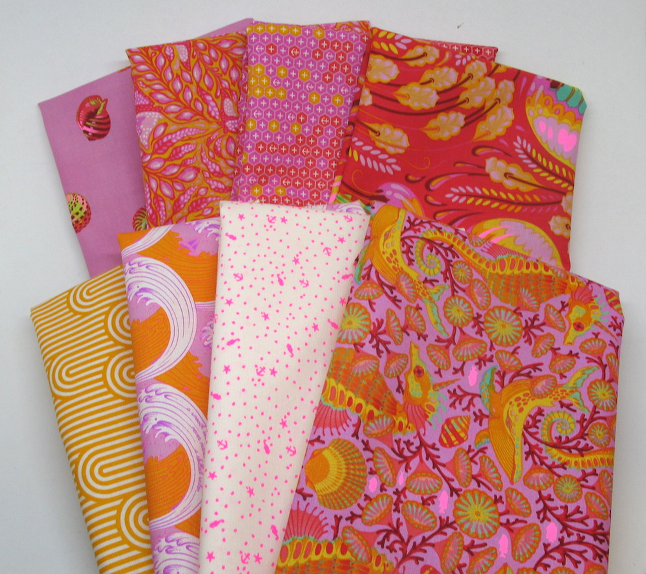 Tula Pink Assortment HYB1065 Cotton Fabric Half Yard Bundle