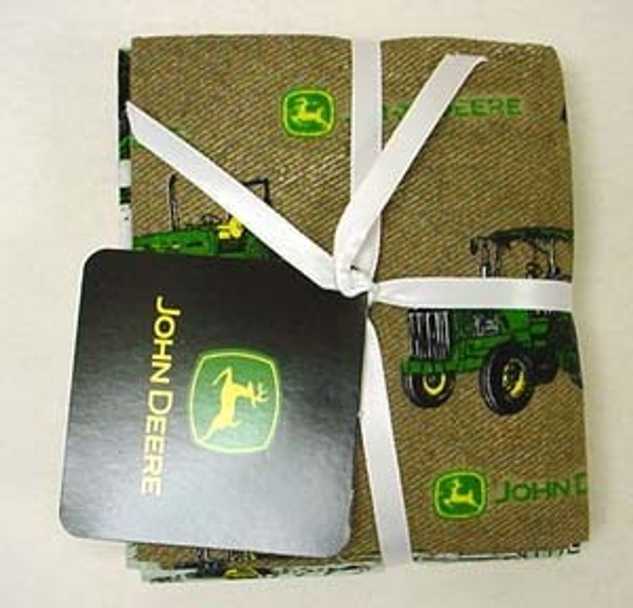 John Deere Fat Quarters Design #1 100% Cotton Lot Of 4