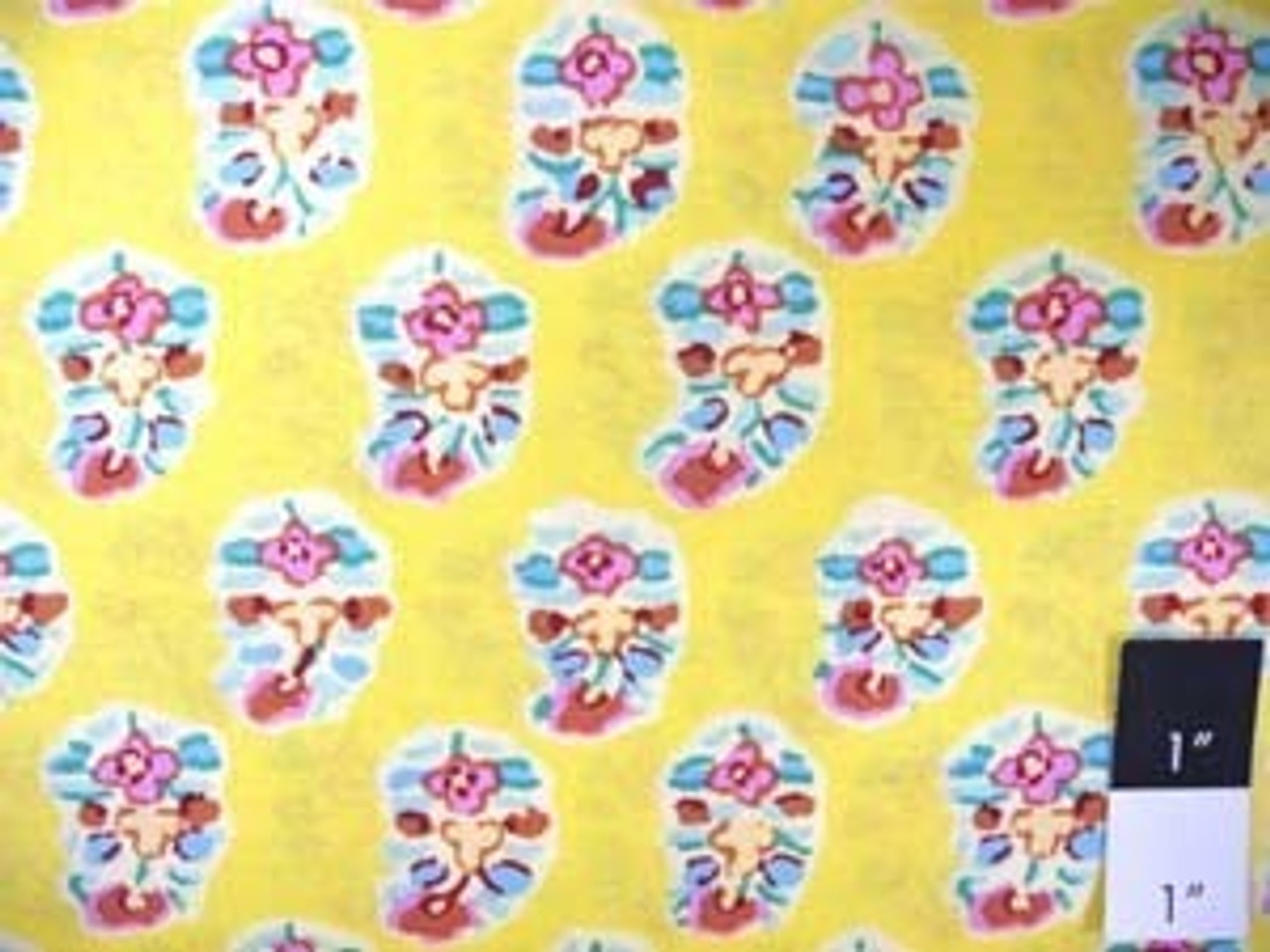 Kaffe Fassett GP75 Asha Yellow Cotton Fabric By The Yd