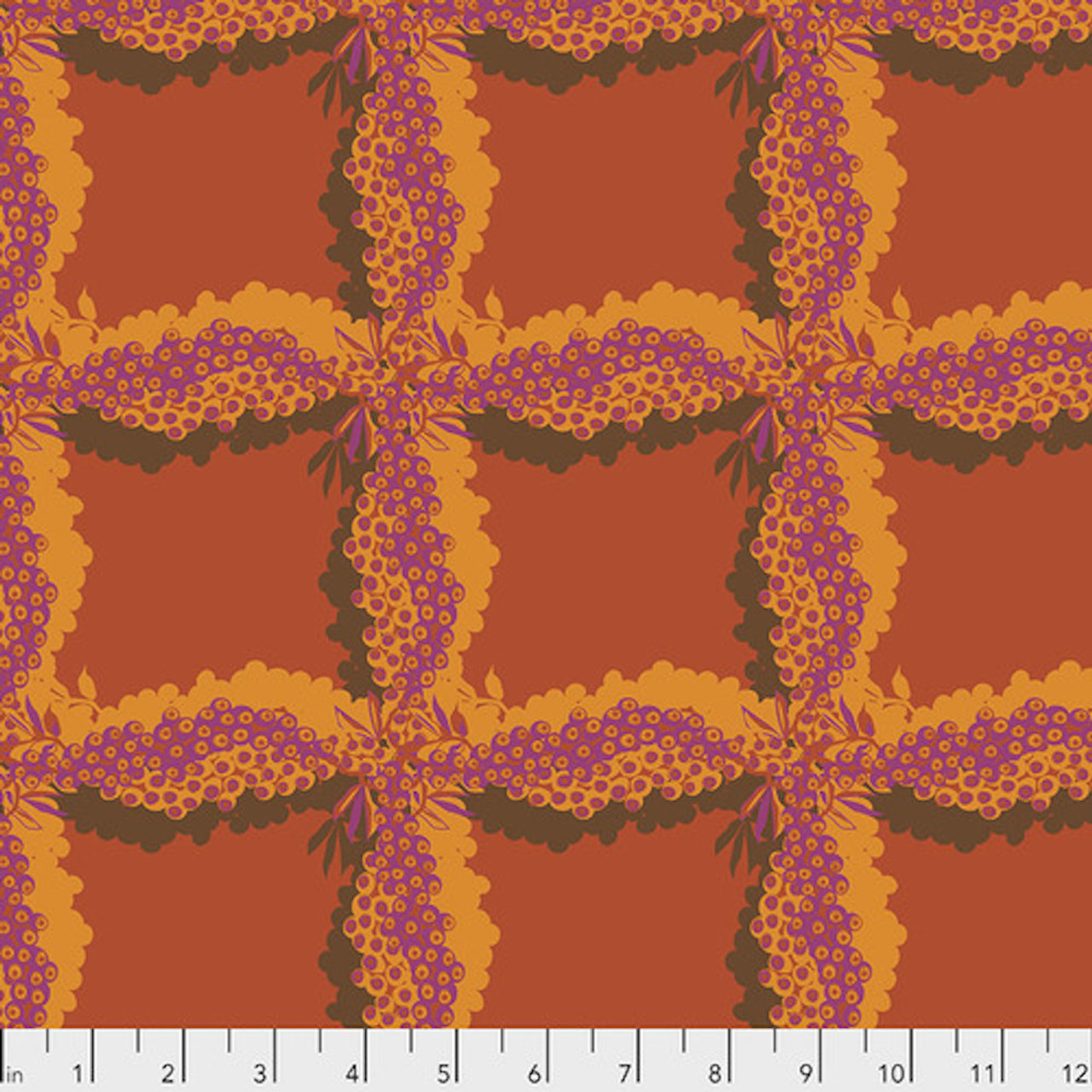 Kathy Doughty PWMO035 Seeds & Stems Woven Cinnamon Cotton Fabric By Yard