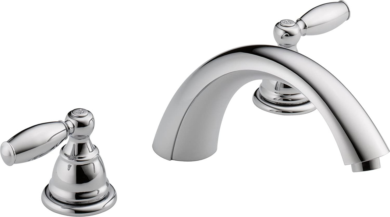 Peerless PTT298696 Claymore 2-Handle Widespread Roman Tub Faucet Trim Kit Chrome (Valve Not Included)