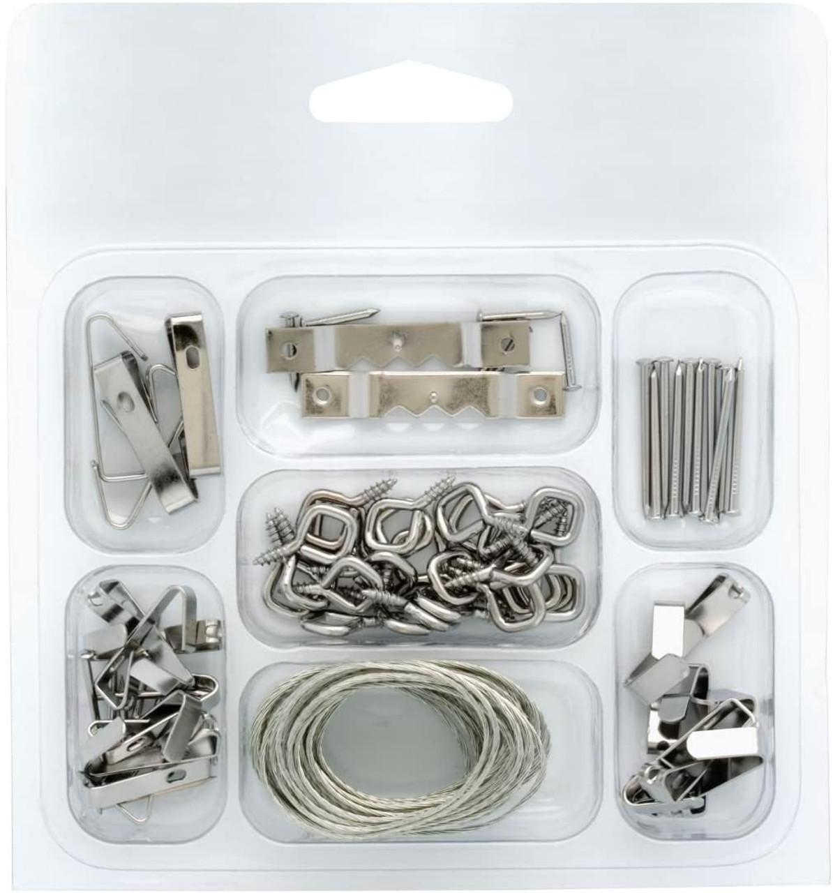 Project Basics 129700 46 Piece Light & Medium Duty Picture Hanger Kit