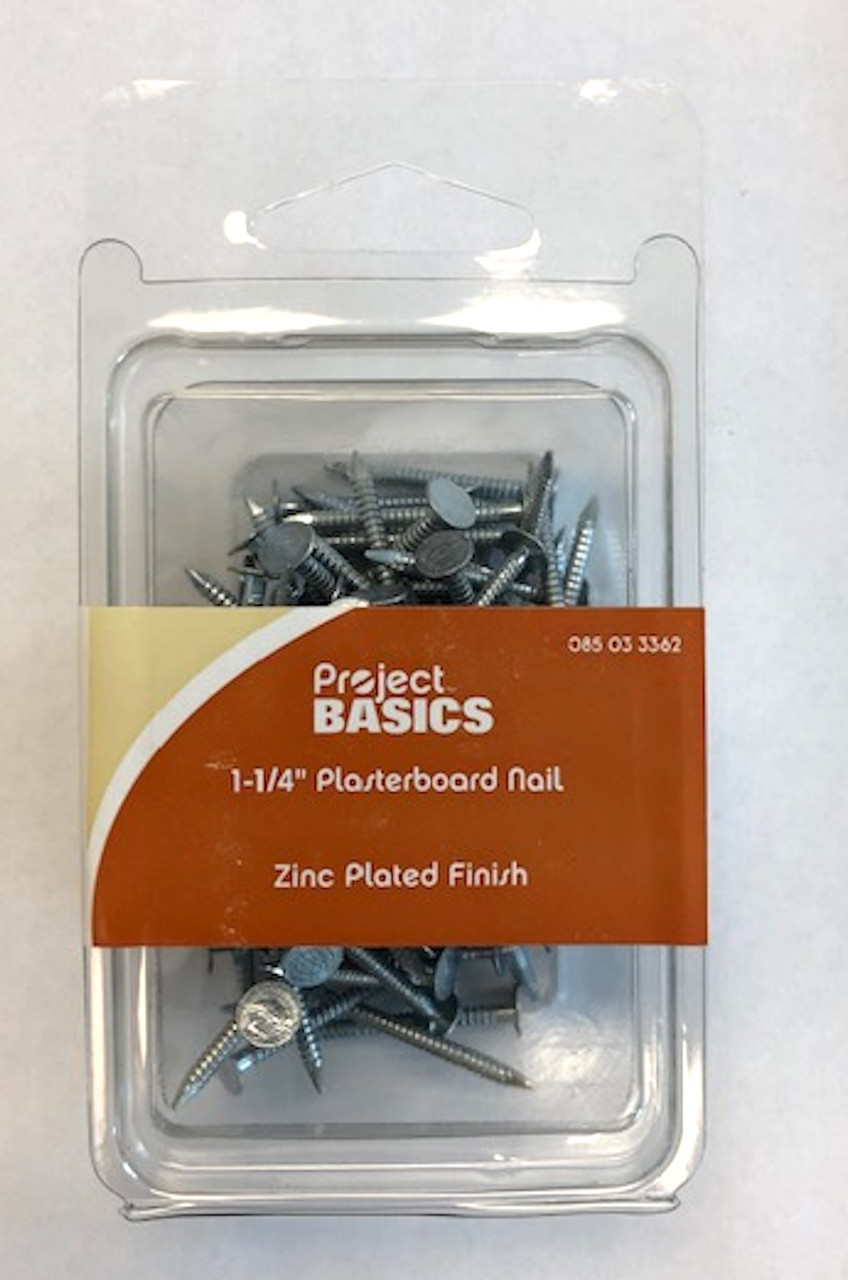 "Project Basics 085-03-3362 100 Pack 1 1/4"" Plasterboard Nails"