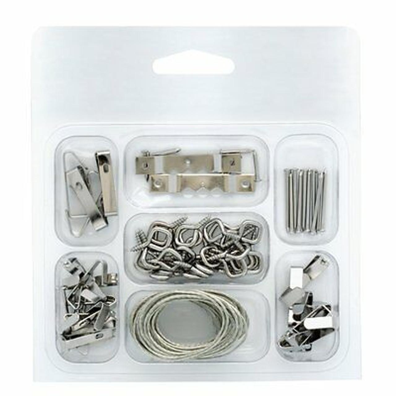 Project Basics 149149 46 Piece Light & Medium Duty Picture Hanger Kit