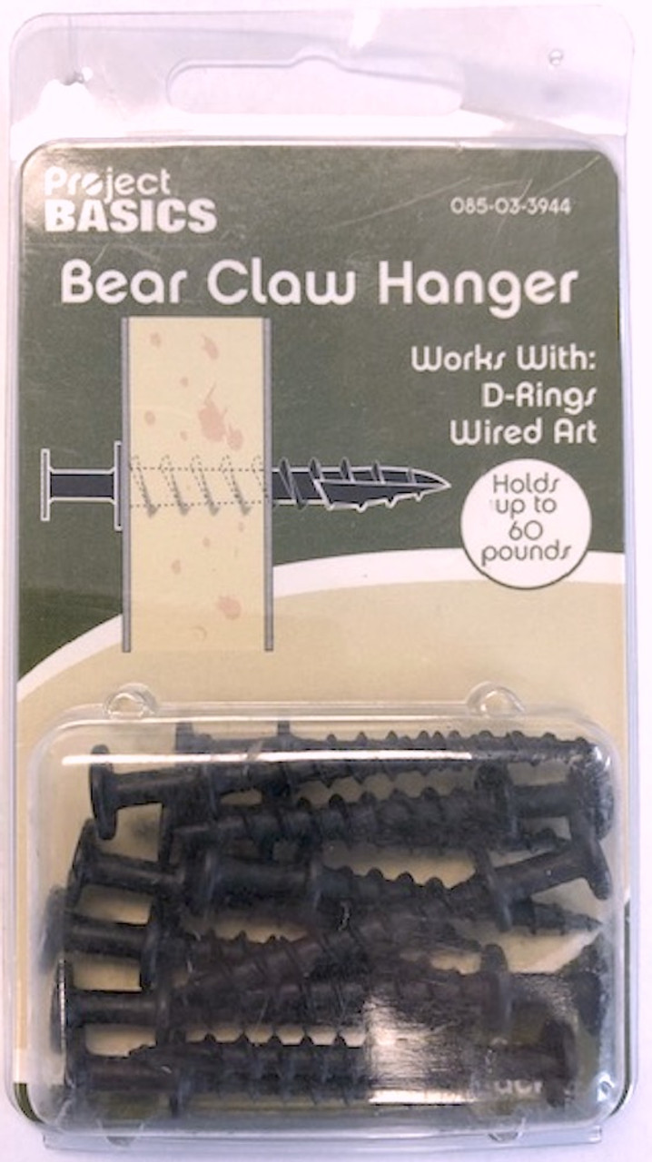 Project Basics 085-03-3944 Heavy Duty Bear Claw Hangers for Wall Art 12 Pack
