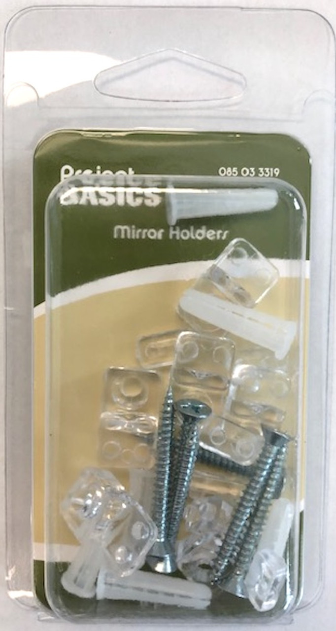 Project Basics 6 Pack Clear Mirror Holder Clips