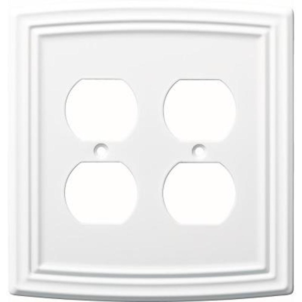 Liberty W36402-PW Classical Emery Double Duplex Pure White Cover Plate