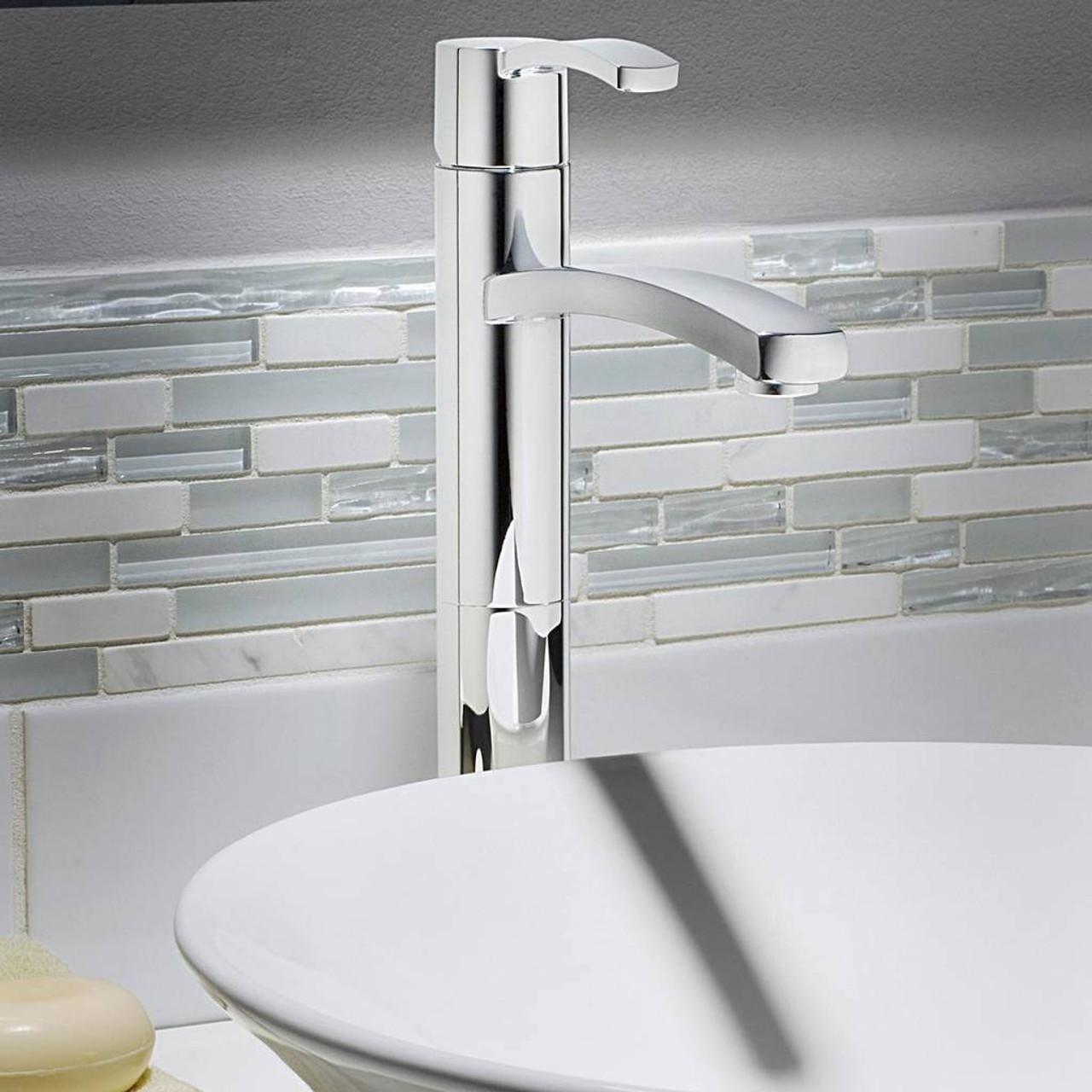 American Standard Boulevard Vessel Sink Faucet Satin Nickel Finish