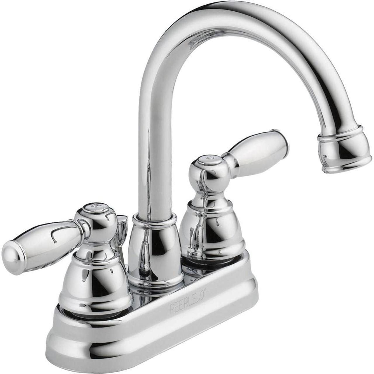 Peerless P299685LF Claymore 2-Handle Centerset Bath Sink Faucet Chrome