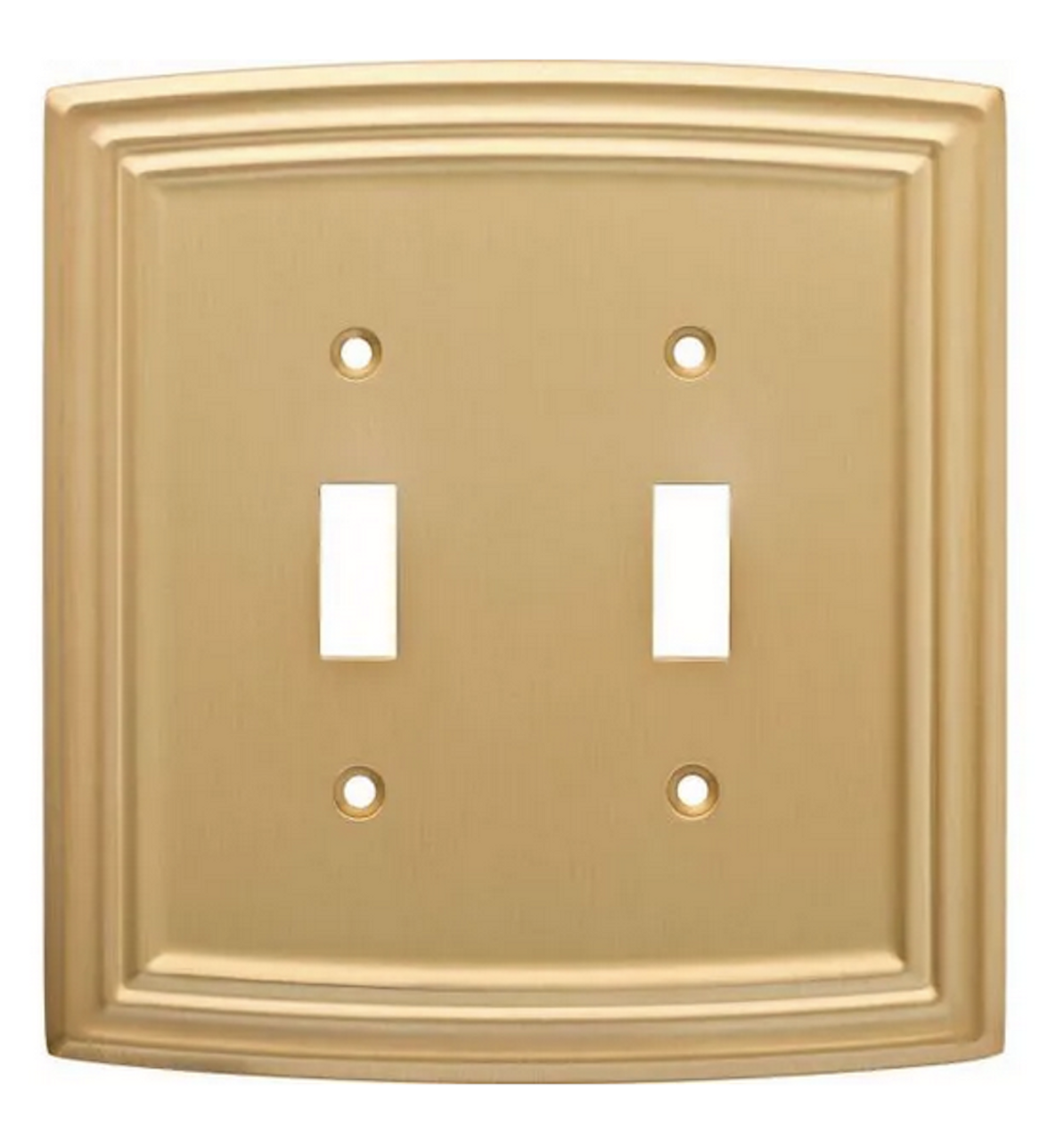 Liberty W36399-117 Classical Emery Double Switch Brushed Brass Cover Plate