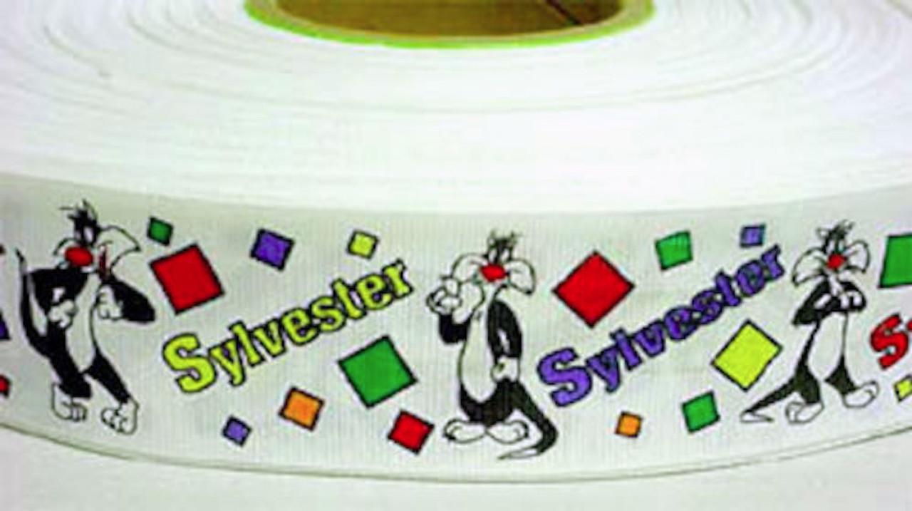 "Looney Toons Sylvester Grograin Ribbon 10 Yd  1 1/2"" Wide"