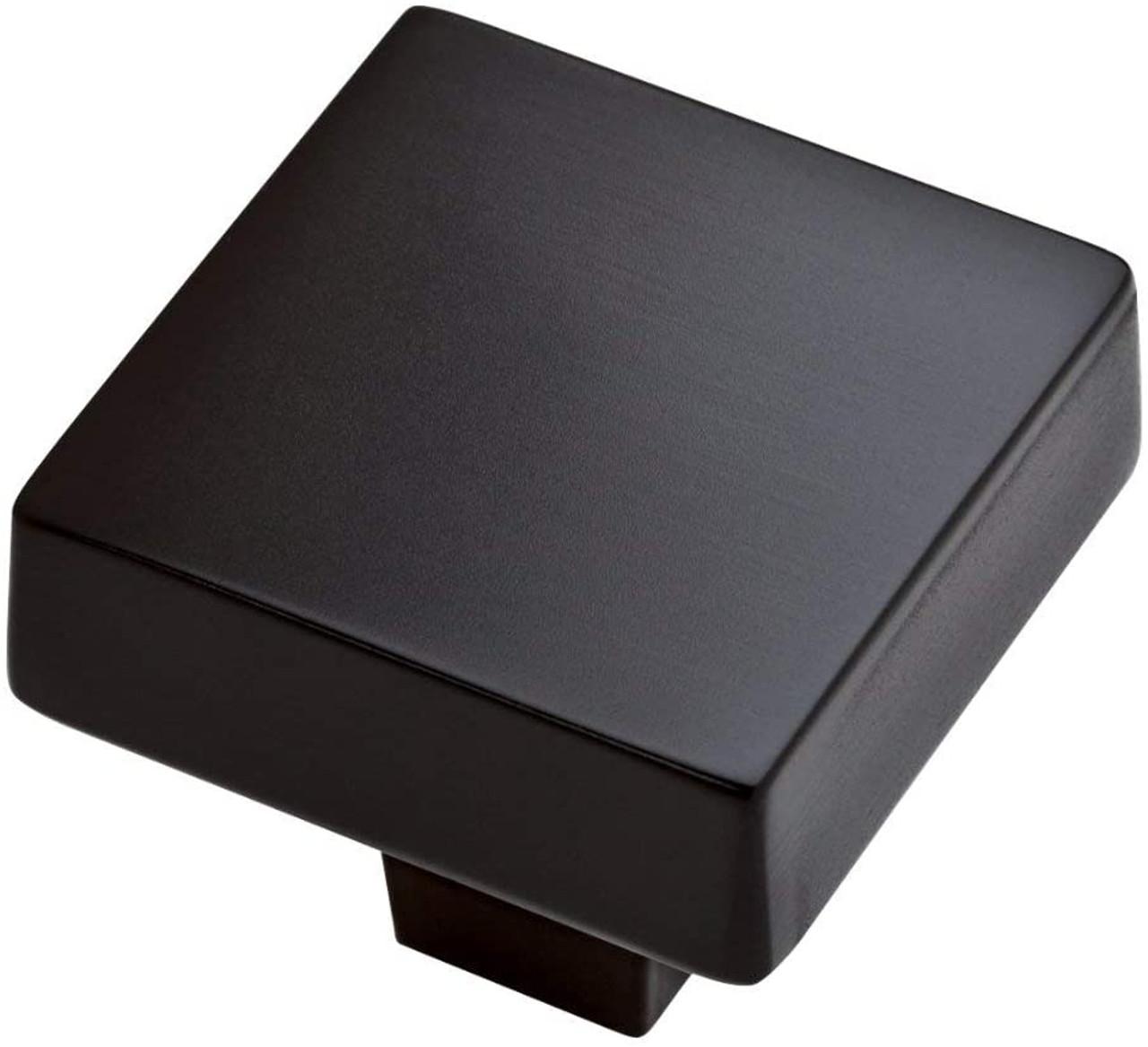"Liberty P34941C-FB Flat Black Squared Modern 1 7/16"" Cabinet & Drawer Knob"