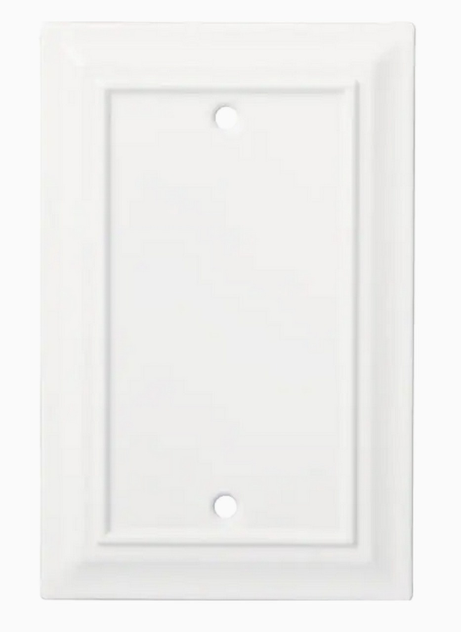 Brainerd Architectural W31560-PW Single Blank Switch Plate Pure White