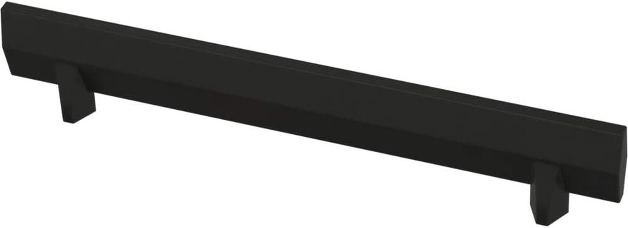 "Liberty P40850K-FB 5 1/16"" Gathered Blade Cabinet Drawer Pull Matte Black 10 Pack"