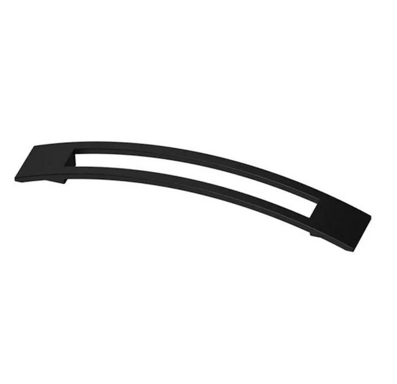 "Liberty P39234C-FB 6 5/16"" Cutout Slight Curved Cabinet Pull Flat Black"
