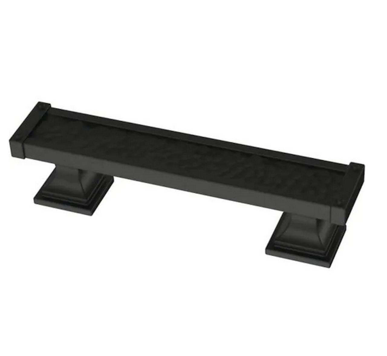 "Liberty P41703K-FB Flat Black 3"" Hammered Drawer & Cabinet Pull"