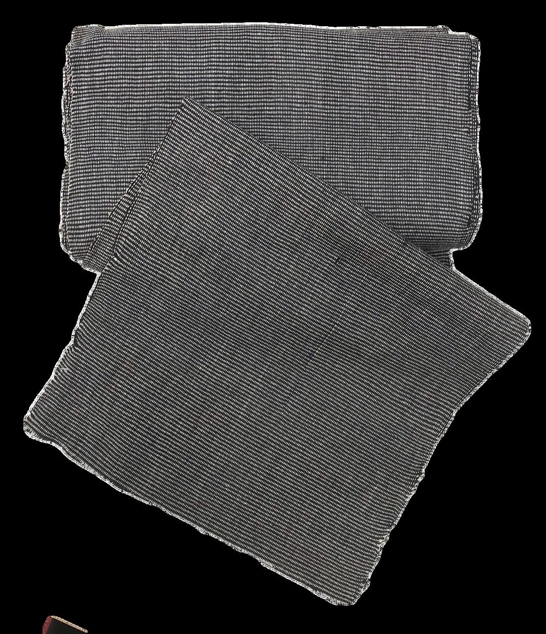"African Faso Dan Fani Handmade Woven Black/White Cotton Fabric 12"" x 7 Yard"