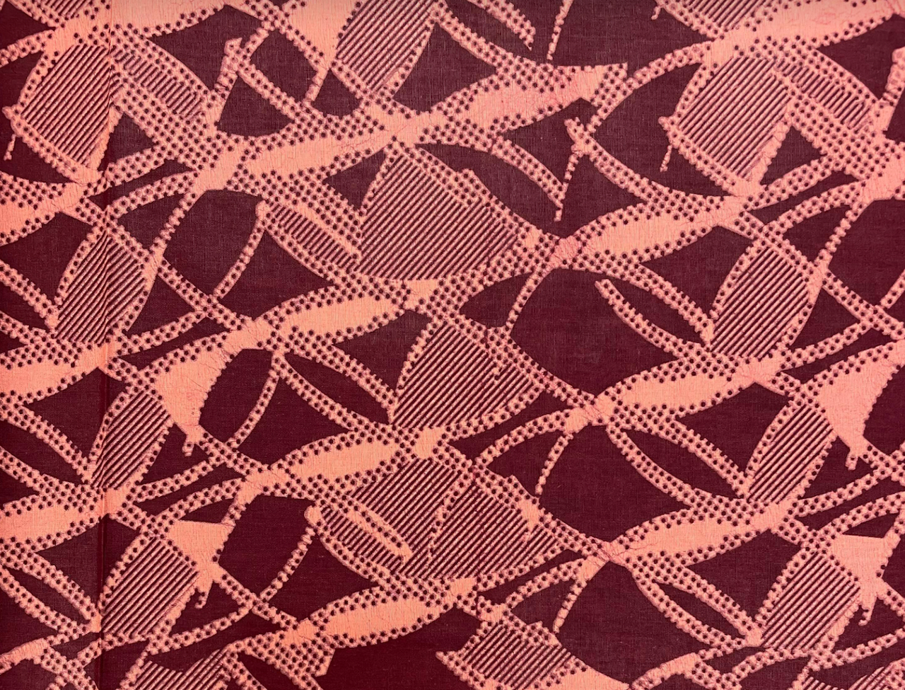 African Traditional Wax Print 27055 Wine Cotton Fabric By The Yard
