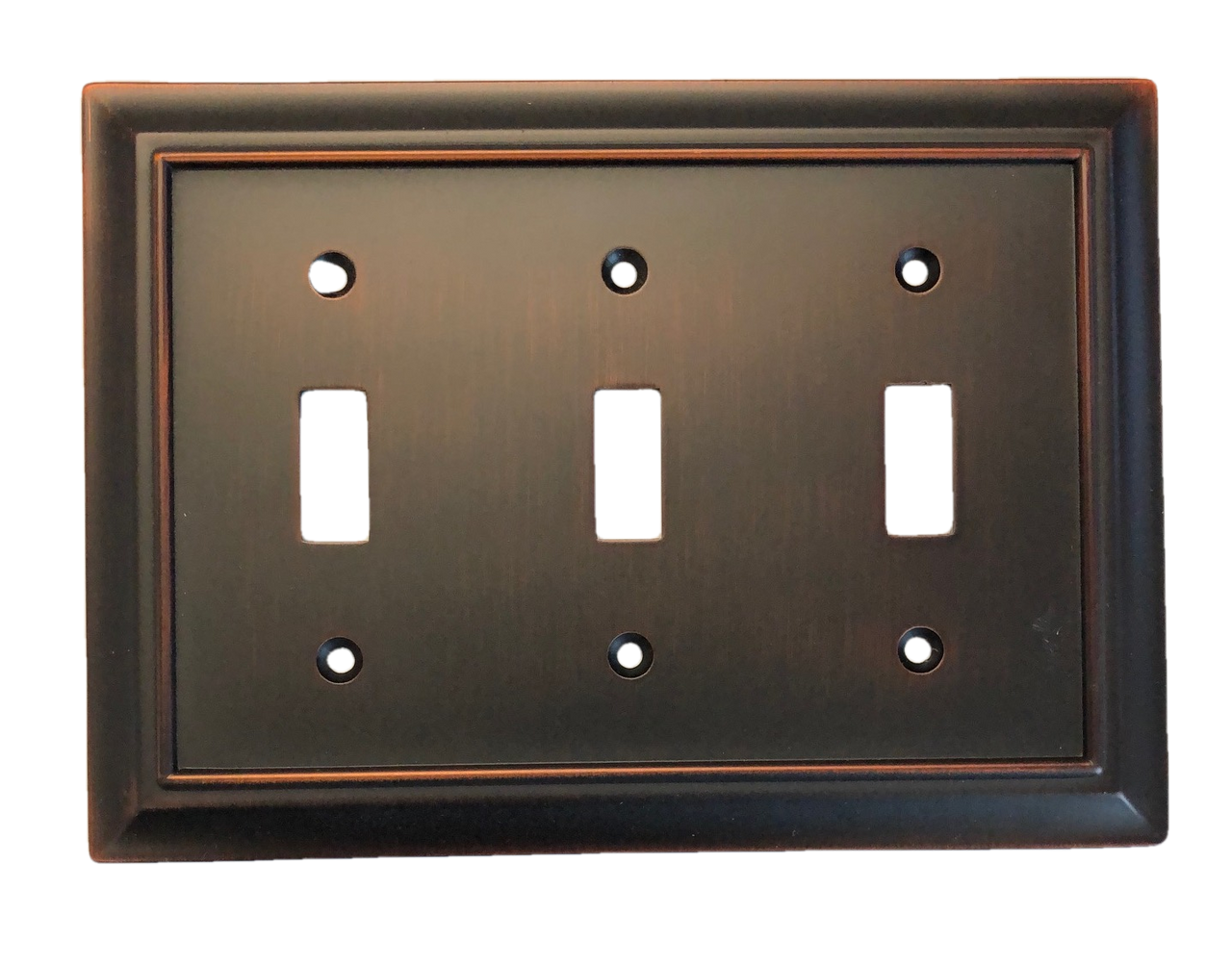 Brainerd W10599-BZM Architect Matte Bronze Triple Switch Wall Plate Cover