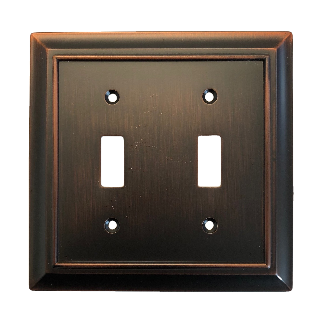 Brainerd W10085-BZM Architect Matte Bronze Double Switch Wall Plate Cover