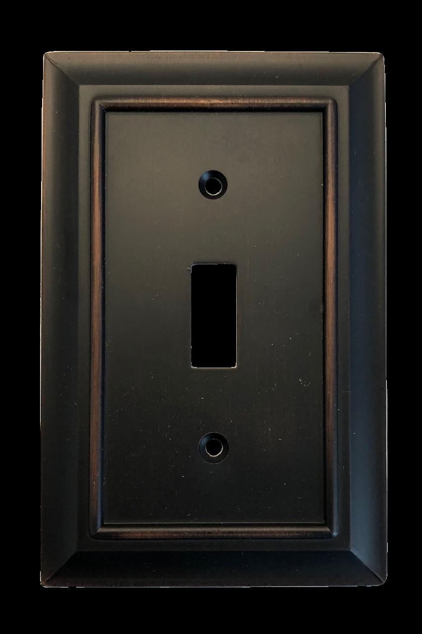 Brainerd W10087-BZM Architect Matte Bronze Single Switch Wall Plate Cover