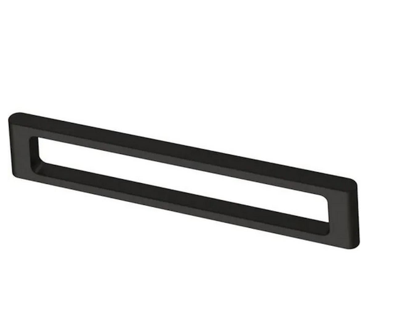 "Brainerd P40082C-FB Flat Black Squared Modern 5 1/16"" Cabinet & Drawer Pull"