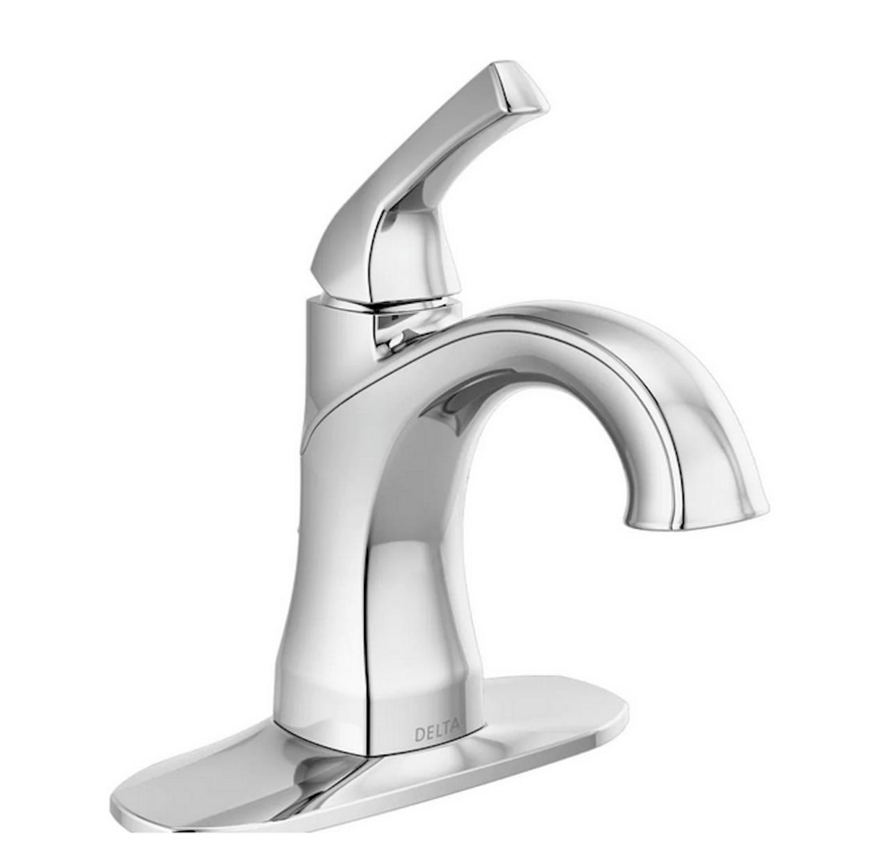 """Delta 15770LF Portwood Chrome 1-Handle Single Hole 4"""" Centerset Bath Faucet"""