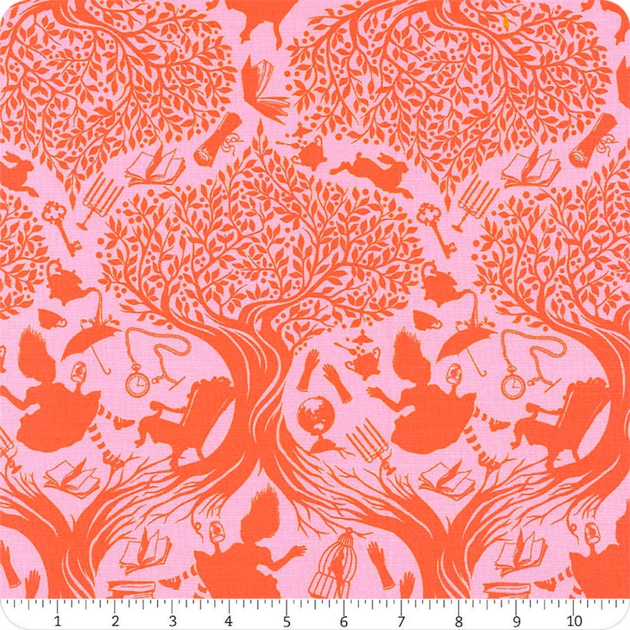 Tula Pink PWTP166 Curiouser & Curiouser Down The Rabbit Hole Wonder Cotton Fabric By Yd