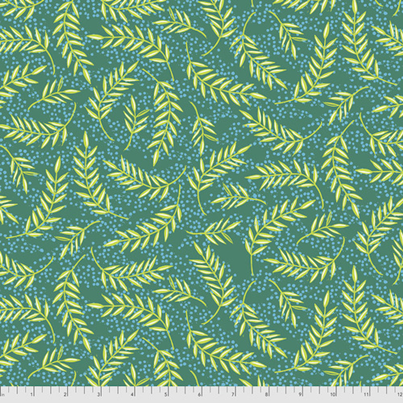 Free Spirit Valori Wells Enchanted Olive Branches Emerald Cotton Fabric By The Yard