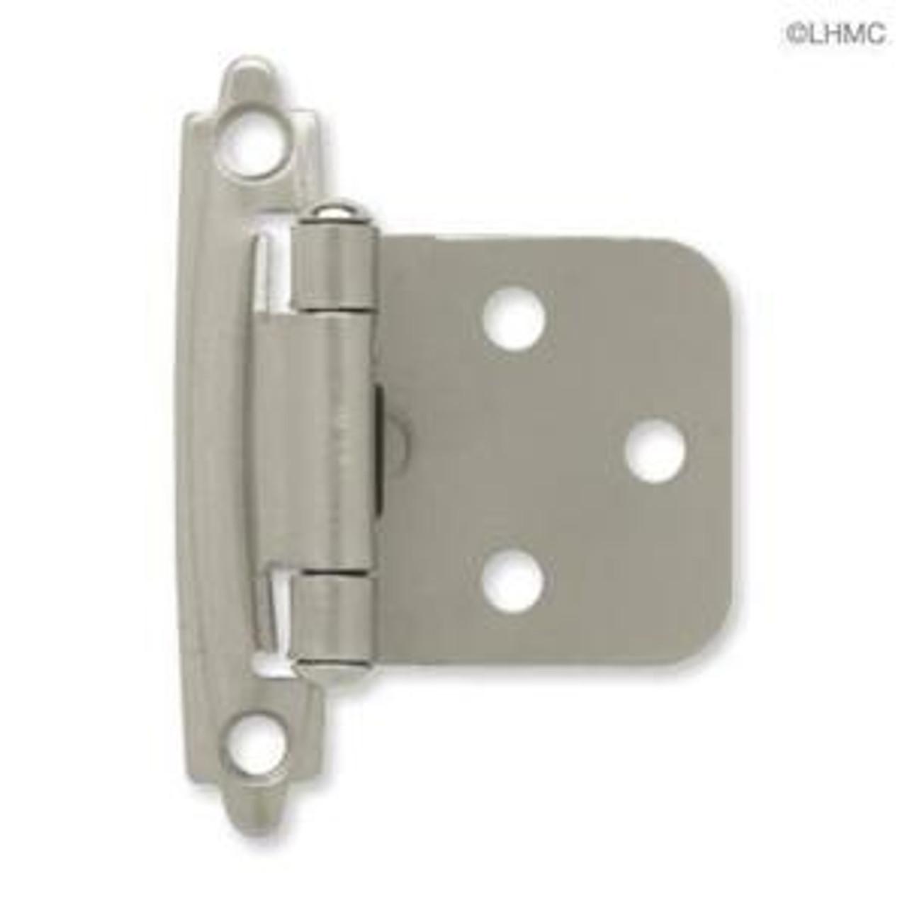 H0103BC-SN Satin NIckel Self Closing Overlay HInge 2 Pack