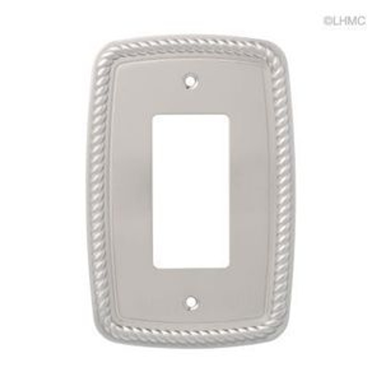 126418 Satin Nickel Classic Rope GFCI Switch Cover Plate