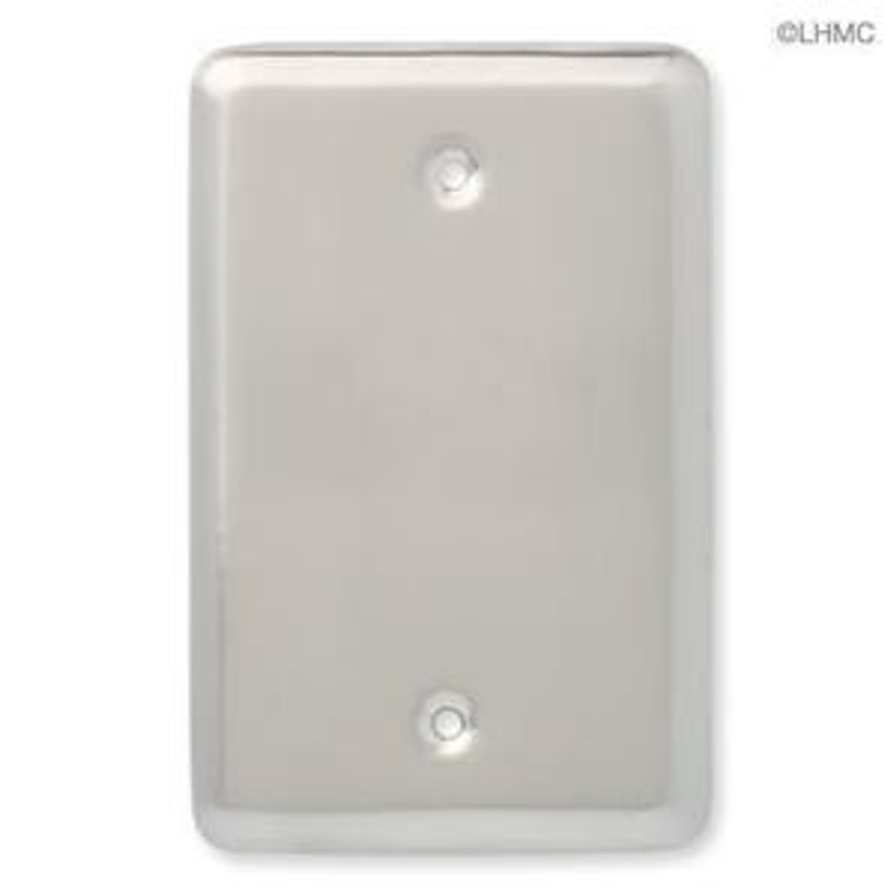 126441 Satin NIckel Stamped Blank Cover Wall Plate