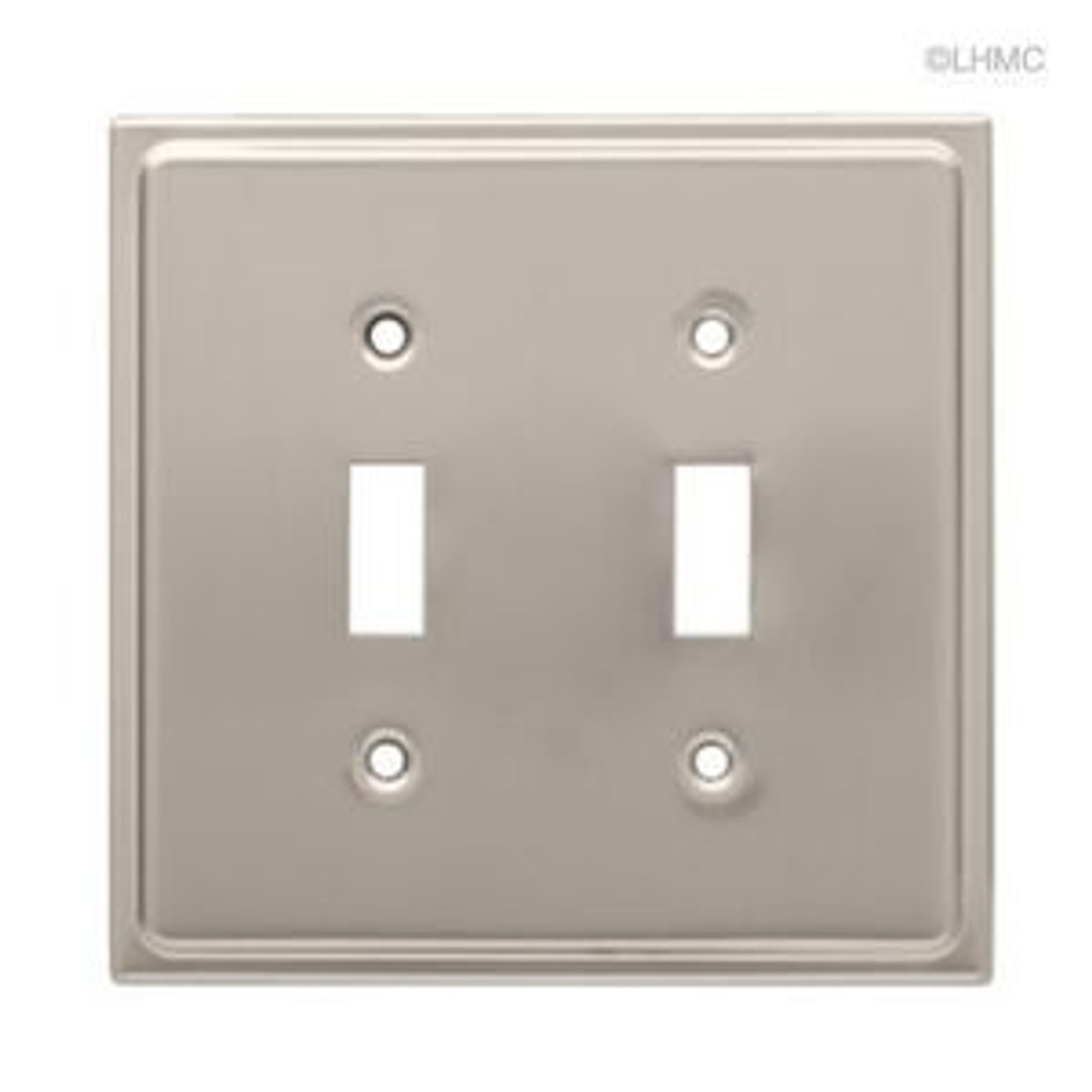 126365 Satin Nickel Country Fair Double Switch Cover Wall Plate