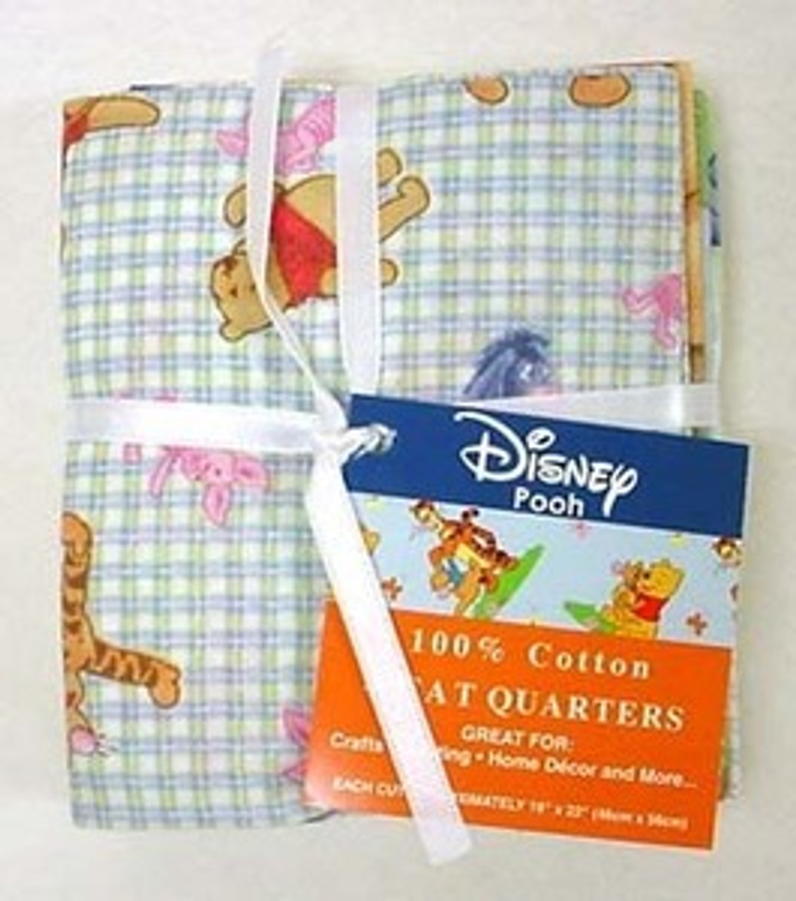 Disney Winnie The Pooh Fat Quarters 100% Cotton Fabric Pack Of 4
