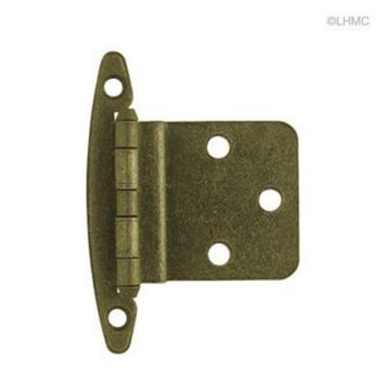 """H00930C-AB 3/8"""" Self Closing Inset Hinge W/O Spring Ant Brass 2 Pack"""