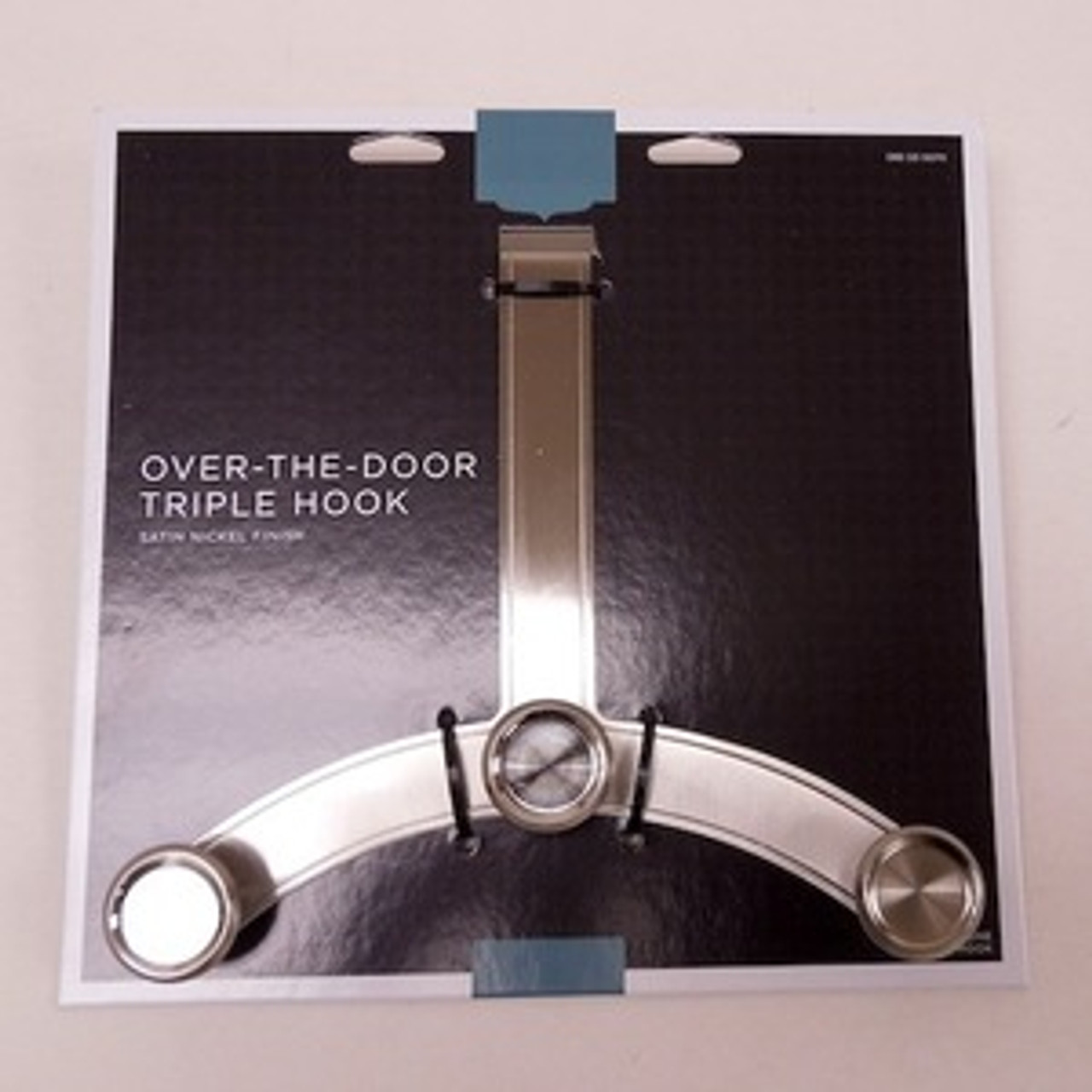 085-03-0070 Over The Door 3 Hook Coat Hat Hook Rail Satin Nickel