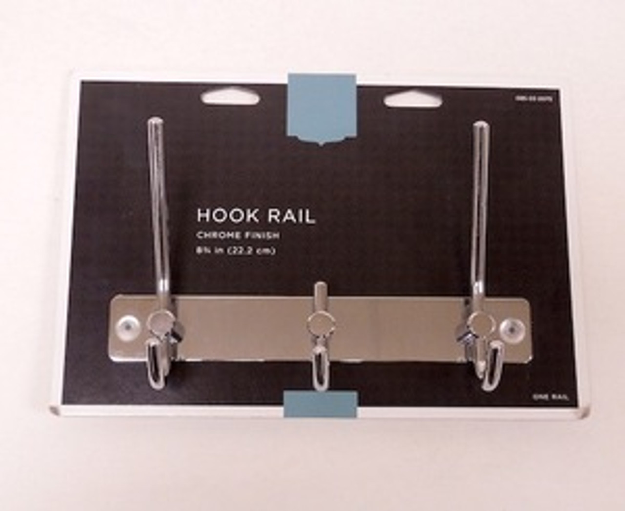 "085-03-0075  8 3/4"" 3 Hook Coat/Hat Rail Chrome"