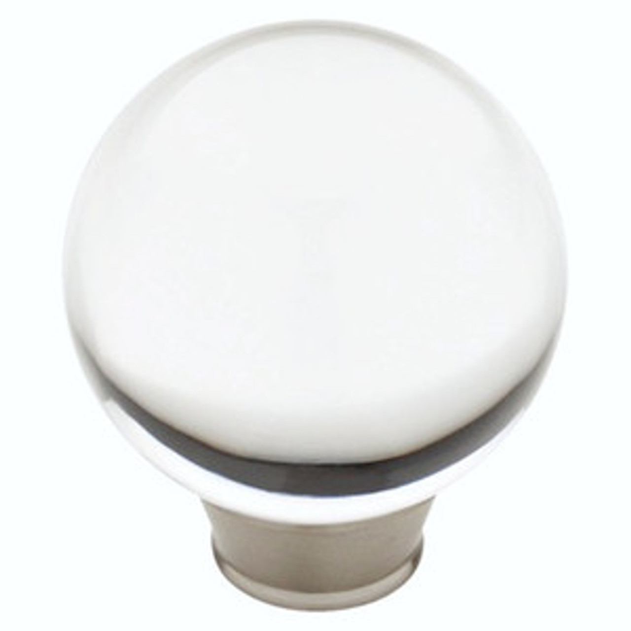 "085-03-0111 1 3/86"" Clear Acrylic & Satin Nickel Cabinet Drawer Knob 4 Pack"