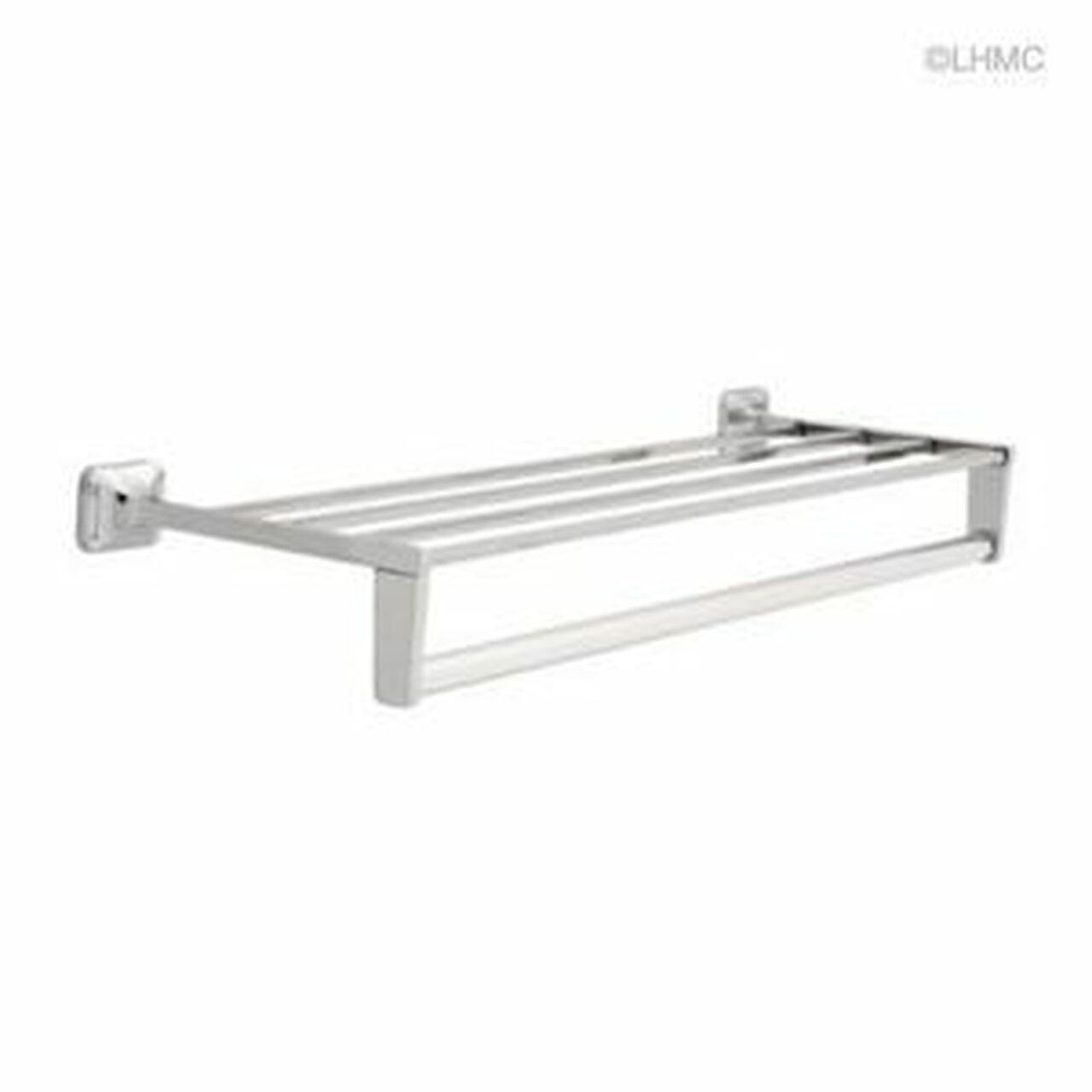 "13274 24"" Towel Shelf w/ Bar & Support Braces Chrome"