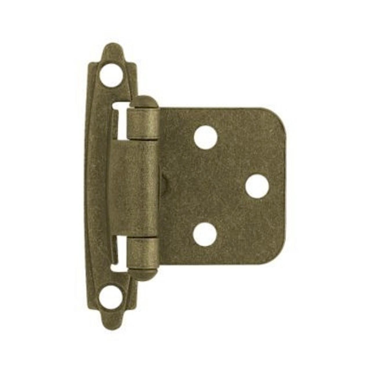 81465 Antique Brass Self Closing Overlay HInge 10 Pack